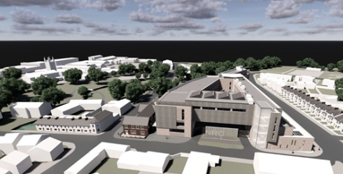 Artist impression of new coleraine campus building