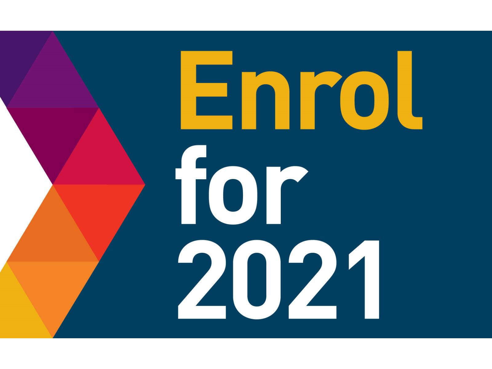Enrol for September 2021