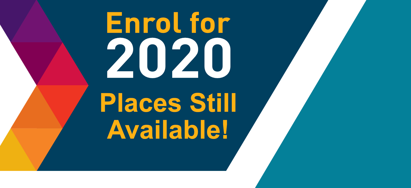 Enrol for September 2020 - Places still available!