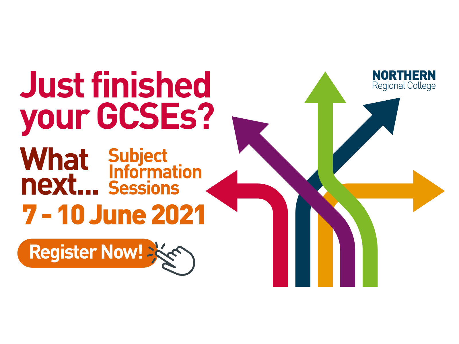 Just finished your GCSEs? What next... Subject Information Sessions, 7-10 June 2021, register now!