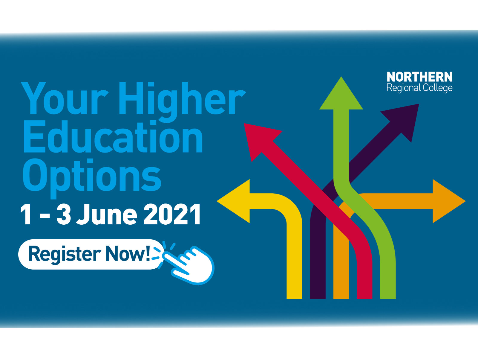 Your Higher Education options, 1-3 June 2021, register now!