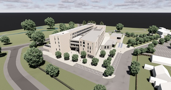 Architects drawing for Ballymena Campus new build