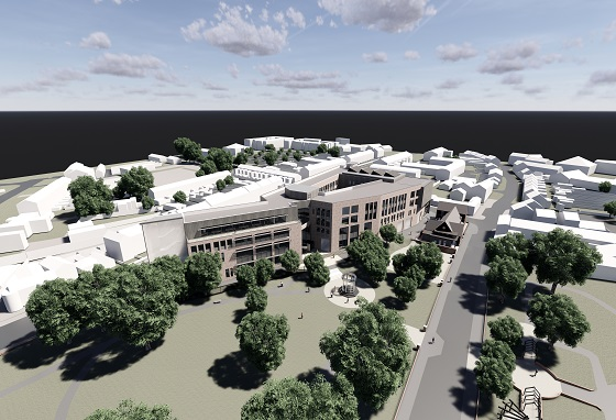 Architects drawing for Coleraine Campus new build