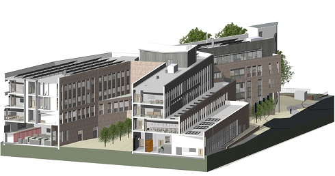 An architects vision of the new campus in Coleraine.