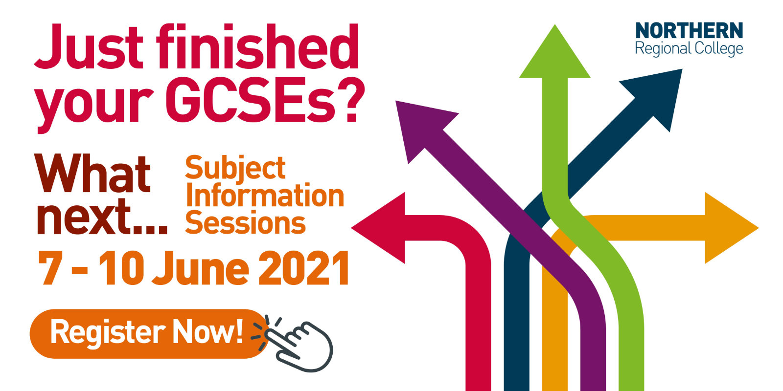 Subject information sessions for Further Education, 7-10 June 2021.
